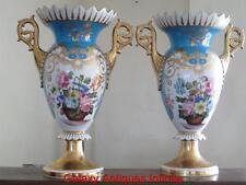 Large Russian Gilded Porcelain Vases