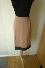 PRADA Ombre Skirt Brown With Black Color Block Simple A-Line Cotton Size 44