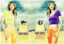 Publicité Advertising 1997 (2 pages) Les parfums Kenzo Jungle Elephant et Tigre