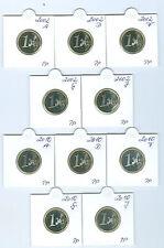 BRD  1 Euro 2002 - 2010 ADFGJ PP kpl.  45 Münzen!