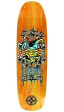 Black Label John Lucero X2 Skateboard Deck ORANGE STAIN w/YELLOW FACE