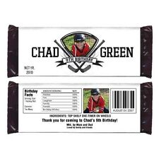 12 Hockey Sport Birthday Party Favors Personalized Candy Wrappers