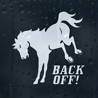 Back Off Funny Horse Car Decal Vinyl Sticker For Panel Window Bumper