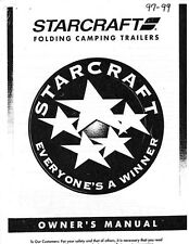 1999 Starcraft Folding Camping Popup Trailer Owners Manual