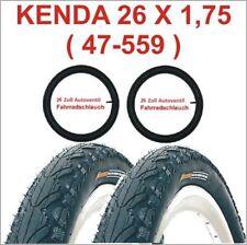 Kenda Fahrradreifen 2 X 26 Zoll Reifen 26x1.75 47-559 inkl. 2 x Schlauch mit AV.