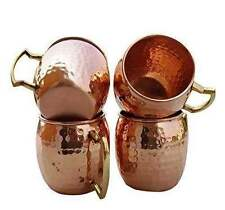 Pure Copper Handmade Moscow Mule Mug Set of 4
