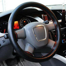 New Leather DIY Car Steering Wheel Cover With Needles and Thread Black