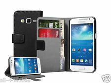 NERO Portafoglio Leather Case Cover Custodia per Samsung Galaxy Express 2 / SM-G3815