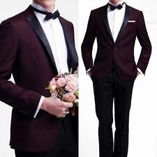 Custom wedding dress for men best man suit Burgundy criminal litigation the groo