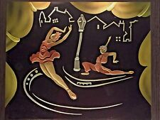 Vintage French Ballet Themed Modernist Back Lit Shadow Box Electrified # 1 of 2