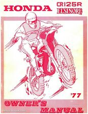 1977 Honda CR125M Elsinore Service & Owners Manual - 800-426-4214