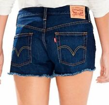 $49.50 Levi's 501 Denim Shorts Cut Off ~ Ripped Button Fly For Women Size 32 NWT