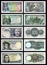 Facsimil Billetes 5 pesetas 1943-1945-1947-1948-1951- Reproductions