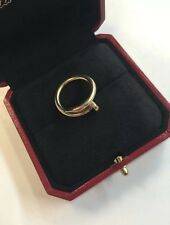CARTIER Juste Un Clou Nail Ring Yellow Gold Authentic With Box & Papers Size 52