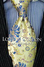Lord R Colton Masterworks Tie - Belvoir Garden Pearl Yellow Necktie - $195 New