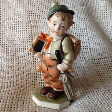 Vintage Friedel READY TO SCHOOL West Germany Bavaria Figurine Statue -HTF