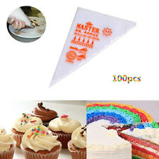 100Pcs Disposable Icing Piping Bags Cream Bags Cake Pastry DIY Decorating Tool