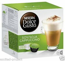 Nescafe Dolce Gusto Pods - Soy Soja Cappuccino Lactose Free - 1 x 16 Capsules