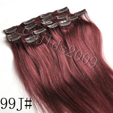 "14""-30"" Full Head 100% Clip in Human Hair Extensions 7pcs/set Straight Hair"