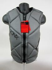 RONIX INDO MEN'S FRONT ZIP COMP VEST SIZE: S – COLOR: GREY – NEW!!!