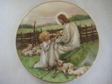 "1988 ""THE LORD'S MY SHEPHERD"" COLLECTOR PLATE, BY CICELY MARY BARKER, 8 1/2"" DIA"