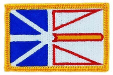 FLAG PATCH PATCHES NEWFOUNDLAND   PROVINCIAL IRON ON EMBROIDERED SMALL CANADA