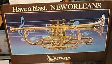 "HANSON ""HAVE A BLAST"" NEW ORLEANS REPUBLIC AIRLINES COLOR POSTER"