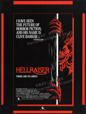 HELLRAISER__Original 1986 Trade AD film promo_poster__CLIVE BARKER__Stephen King