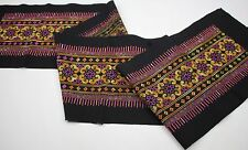 Colorful Tribal Traditional embroidery fabric Handmade  Crafting Supply 31771