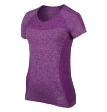 Nike Dri Fit Knit Short Sleeved T Shirt Women's Uk  Small (718569 556)
