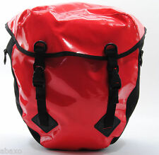 WATERPROOF BICYCLE TOUR REAR PANNIERS,BIKE TOURING BAGS,HEAVY DUTY,BLACK,RED