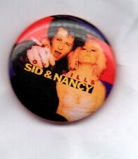 SID & NANCY BUTTON BADGE  PUNK  SEX PISTOLS    CLASSIC PUNK ROCK