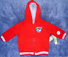 Sesame Street Cookie Monster Hoodie Sweat Jacket Size 12 Months New Free Ship !