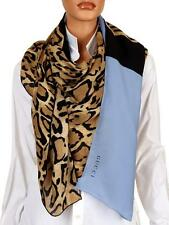 """NEW GUCCI OVER SIZED """"LOTI"""" ANIMAL GEORGETTE SILK SHAWL WRAP STOLE SCARF"""