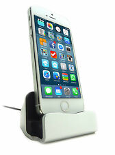 Lightning to USB Dock Sync Apple iPhone 6, iPhone 6 Plus, iPhone 5 silver base