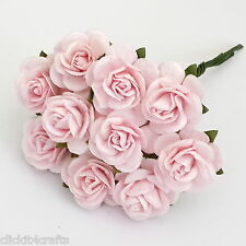 50 Shabby Pink Mulberry Paper Wedding Flower home decor craft supply roses ZR3-2