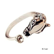 FREE GIFT BAG Silver Plated Zebra Horse Pony Adjustable Ring Xmas Cute Jewellery