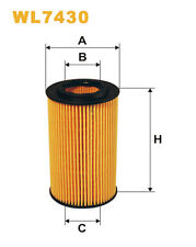 WIX WL7430 Car Oil Filter Eco Cartridge Replaces HU7186x CH10331ECO OX1537