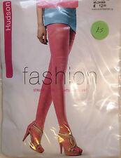 Hudson Medium Size 12 to 14 Patterned Fashion Tights in a Bright Pink shade 1447