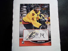2012/13 HEROES AND PROSPECTS AUTOGRAPH  CARD - JORDAN SUBBAN