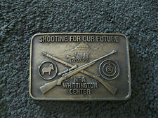 SHOOTING FOR OUR FUTURE BELT BUCKLE, NRA WHITTINGTON CENTER...