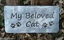 """Gostatue MOLD abs plastic mould """"My beloved Cat"""" concrete plaster mold"""