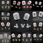 10pcs/lot 3D Nail Art Tips Fashion Gold Silver Alloy Stickers DIY Charms Decors