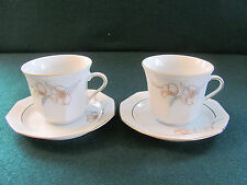 PAIR OF WINTERLING MARKTLEUTHEN BAVARIA TEA / COFFEE CUPS & SAUCERS