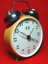 LOUD NEW OLD STOCK Vintage  70's KUCO USSR Winding Alarm Clock with Bells NR113
