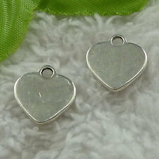 free ship 240 pieces tibet silver heart charms 15x14mm #3664