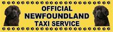 NEWFOUNDLAND OFFICIAL TAXI SERVICE  Dog Car Sticker  By Starprint