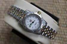 Tag Heuer WD1421 RARE 1500 Professional White SS Watch Womens Gold Mint Crystal