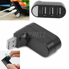 3 Ports USB 2.0 Mini Rotating Splitter Adapter HUB for PC Notebook Laptop Mac