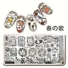 1Pc Nail Art Stamp Image Stencil Plate Forest Animal Design DIY Harunouta L018